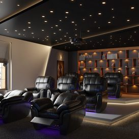 Home theater Modern style Extension 2018 3d model Download  Buy 3dbrute