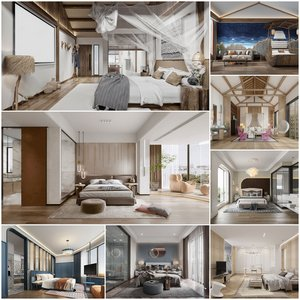 Hotel-Bedrooms vol2 2021 3d model Download  Buy 3dbrute