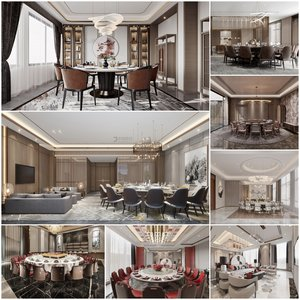 Restaurant private room vol2 2021 3d model Download  Buy 3dbrute