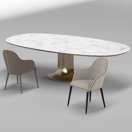 Chairs Selene- Table Mizar 3d model Download  Buy 3dbrute