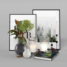 Decorative Set 002 3d model Download  Buy 3dbrute