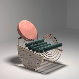 Artdeco chair 3d model Download  Buy 3dbrute