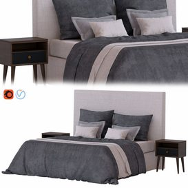 Bed set 07 3d model Download  Buy 3dbrute