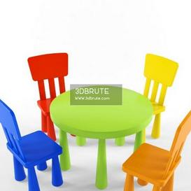table chair children