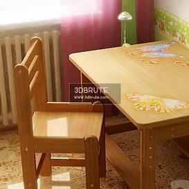 table chair children