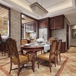 Kitchen & Dining Room E010American style 3d66 2018