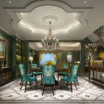 Kitchen & Dining Room E012American style 3d66 2018