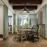 Kitchen & Dining Room G001Mediterranean style 3d66 2018