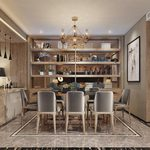 Kitchen & Dining Room J012Mix style 3d66 2018