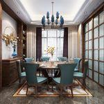 Kitchen & Dining Room J017Mix style 3d66 2018
